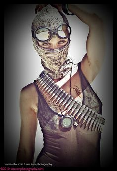 goggles and ammo belts. the devil is in the details
