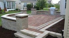 Brick pavers on UNIBASE system, Lifetime Warranty - traditional - patio - chicago - Unibase Proscapes