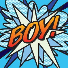 Comic Book BOY! Art Print by The Image Zone