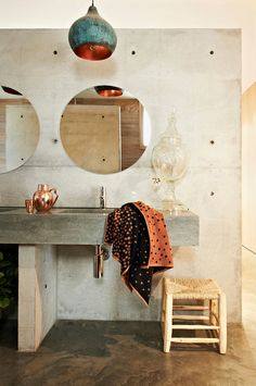 sink, hardware, concrete (good for hard water?) Emma O'Meara - desire to inspire - desiretoinspire.net