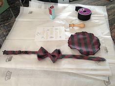 One of our recent bow tie creations.check out our pocket flower as well!