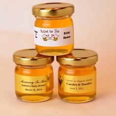 Small jars of honey for wedding favors mini honey jar baby shower favor Wedding Favour Jars, Indian Wedding Favors, Honey Wedding Favors, Rustic Wedding Favors, Budget Friendly Wedding Favours, Wedding Videos, Wedding Gif, Wedding Things, Wedding Stuff