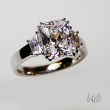 THIS IS THE ALSO THE ONE!!!....2ct, smaller side diamonds, and thinner band = perfection <3
