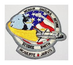 1986 Final Mission Challenger Space Shuttle Iron On Patch