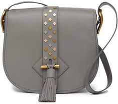 Anne Klein Large Leather Saddle Bag Leather Saddle Bags, Leather Handbags, Anne  Klein, a6534bdefd
