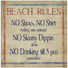 Thirstystone® Beach Rules Set of 4 Stoneware Coasters, Color: Multi - JCPenney Beach Rules, Beach Signs, Skinny Dippin, Drink Coasters, Beach Trip, Coaster Set, Travel Quotes, Verses, Sarcasm