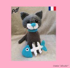 Crochet Kawaii, Chat Crochet, Crochet Amigurumi Free Patterns, Easy Crochet, Crochet Hats, Crochet For Beginners, Amigurumi Doll, Etsy, Dinosaur Stuffed Animal
