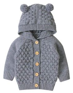 KONFA Teen Toddler Baby Girls Boys Cartoon Alpaca Knitted Cardigan Sweater,Kids Warm Button Pullover Autumn Tops Clothes Set