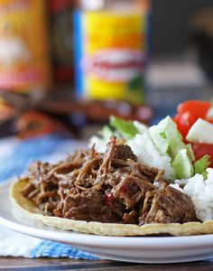 Slow Cooker Coffee Barbacoa Beef | Perfect for tacos, burritos and quesadillas! | www.honeyandbirch.com #mexican #slowcooker