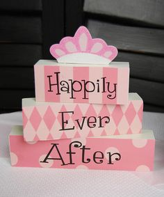 Happily Ever After Wood Block Set by Adams & Co. on #zulily