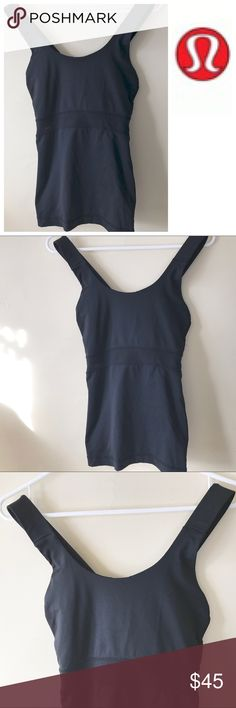 LULULEMON black tank top 10 Large shirt Gently worn black tank size 10 lululemon athletica Tops Tank Tops