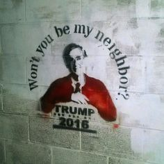 Trump definitely would spice up the block parties #donalddrumpf #drumpf2016 #streetart #stencils #Savannah #ga by mothersuperior.us