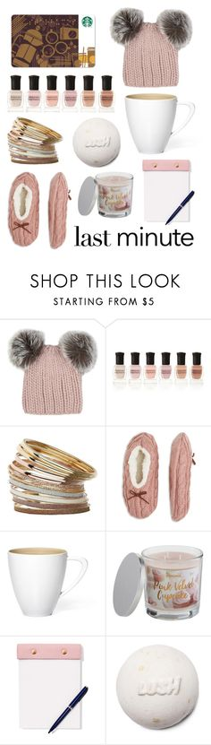 """""""Last Minute Girly Gifts"""" by nerdywordy ❤ liked on Polyvore featuring Eugenia Kim, Deborah Lippmann, Miss Selfridge, SONOMA Goods for Life and StudioSarah"""