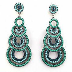 Chandelier Ohrringe VIVIEN grün von TRENDOMLY JOLIEBijouterie Earrings Jewelry Trend 2014