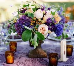 Get expert wedding planning advice and find the best ideas for wedding decorations, wedding flowers, wedding cakes, wedding songs, and more. Floral Centerpieces, Wedding Centerpieces, Floral Arrangements, Wedding Decorations, Wedding Ideas, Table Arrangements, Centrepieces, Flower Arrangement, Wedding Photos