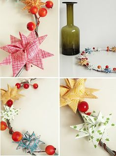jurianne matter diy danish paper stars for christmas or year round decorating