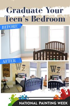 Find out how @thistlewoodfarm made a teen's dream bedroom makeover with Sherwin-Williams. #SWPaintingWeek