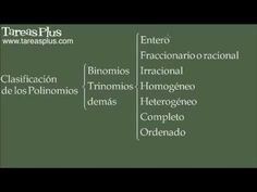 Clasificación de los polinomios algebraicos