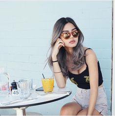 Round Lens Sunglasses, Cute Sunglasses, Sunglasses Women, Vintage Sunglasses, Womens Fashion Online, Latest Fashion For Women, Lily Maymac, Fake Glasses, Glasses Frames