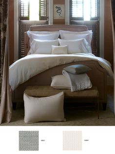 Tomas Bed Linens by Matouk   Pioneer Linens // perfect for your holiday guests