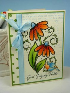 CC373 Wild Pumpkin Daisies by BeckyTE - Cards and Paper Crafts at Splitcoaststampers