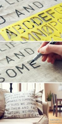 DIY lettered pillow