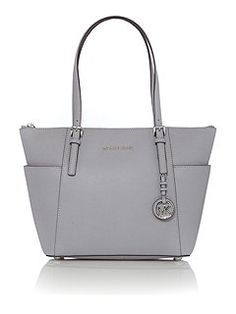 Jetset Item grey zip top tote bag