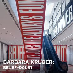 Barbara Kruger: Belief+Doubt–Currently on view at Hirshhorn museum