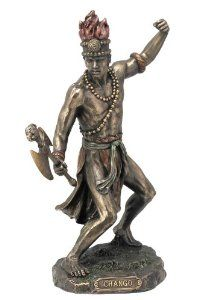 African God of War and Lightning Chango Shango Orisha Statue - A god of many religions, including Santeria, Voodoo, and Yoruba. $49.95