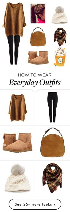 """""""Everyday Fall Outfit"""" by camryn-fowler on Polyvore featuring UGG Australia, UGG, Peach Couture, SIJJL, Fall, iphone, everyday and ugg"""
