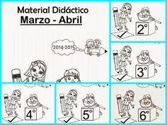 aLeXduv3: Material didáctico Bloque 4 (Marzo-Abril) Primero a Sexto
