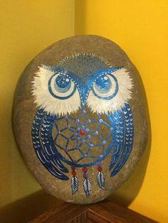 Dream catcher owl rock