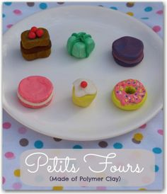 Pretend play Petits Fours made with clay you bake in the oven to harden