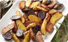 Roasted Heirloom Fingerling Potatoes ~ A great side for baked ham, roasted chicken or beef tenderloin. | BetterThanBouillon.com