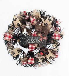 Dog Wreath, Dog Mesh Wreath, Dog Lover Wreath by Splendid Homecrafts on Etsy