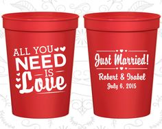 Personalized Wedding Cups, Personalized Cups, Wedding Cups, Personalized Plastic Cups, Stadium Cups, Party Cups, Plastic Cups (527)