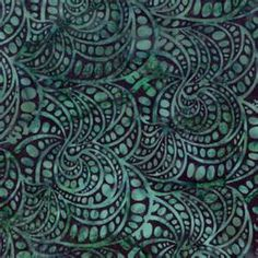 Teal batik
