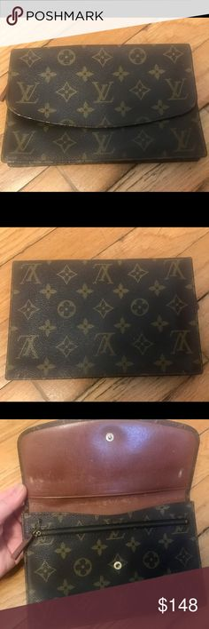 vintage louis vuitton wallet pouch monogram authentic vintage lv can be used as a