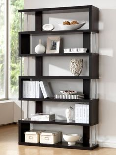 Baxton Studio Barnes 6-Shelf Modern Bookcase, Dark Brown http://www.furnituressale.com/baxton-studio-barnes-6-shelf-modern-bookcase-dark-brown/
