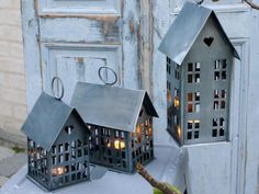 Zinc Tea Light House