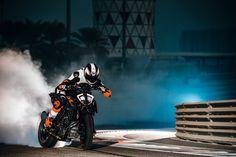 More power and performance for KTM's 1290 Super Duke R and 390 Duke - RevZilla Duke Motorcycle, Duke Bike, White Motorcycle, Ktm Duke, Ktm Super Duke, Ktm Motorcycles, Motorcycle Wallpaper, Moto Bike, Motorcycles