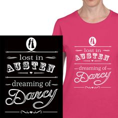 Jane Austen Teeshirt from Clevaclogs