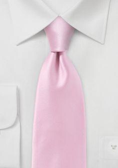 Krawatte monochrom Kunstfaser pastellrosa