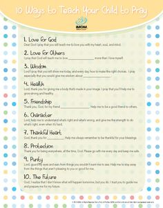 10 Ways to Teach Your Child to Pray~ It's never too late