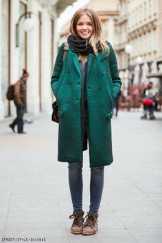 COATS WOMEN WEAR IN ZAGREB NOW - STREET STYLE SECONDS