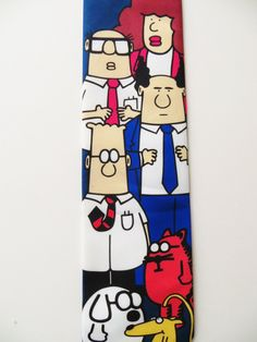 Extra Off Coupon So Cheap Ralph Marlin - Dilbert Tie. Tie Hanger, Royal Blue Background, Office Humor, Cool Ties, Gifts For Him, Comics, Neckties, Street Styles, Link