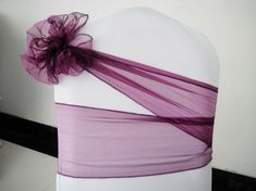 Chair sashes, find more decorations at #TopWedding