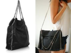DIY Stella McCartney Falabella Chain Trimmed Bag Tutorial from Little Projects