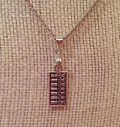 Abacus Pendant - Abacus Charm Necklace - Abacus Necklace - Math Jewelry by BeadCharmJewelry on Etsy https://www.etsy.com/listing/234204326/abacus-pendant-abacus-charm-necklace