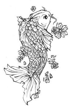 koi fish tattoo - I already made my tattoo, but this is still beautiful.